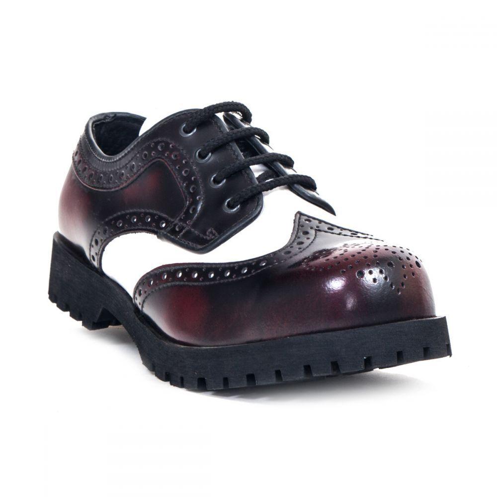 botas & Braces semi zapato Budapest 2-Colour-RocknRoll-Vinatge - tapa de de de acero f7c4e2