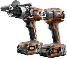 RIDGID 18-Volt Lithium-Ion Cordless Hammer Drill/Driver and Impact Driver Combo