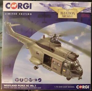 Corgi Aviation Puma Hc Mk.1 Xw219 Westland 230 Sqn Raf Benson Nov 2009 Aa27001