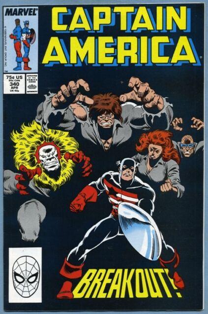 Captain America #340 1988 Marvel Comics v