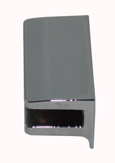 8x Glashalter Regal Glas Acryl Befestigung rechteckig Ablage 11-14mm V2A Büro