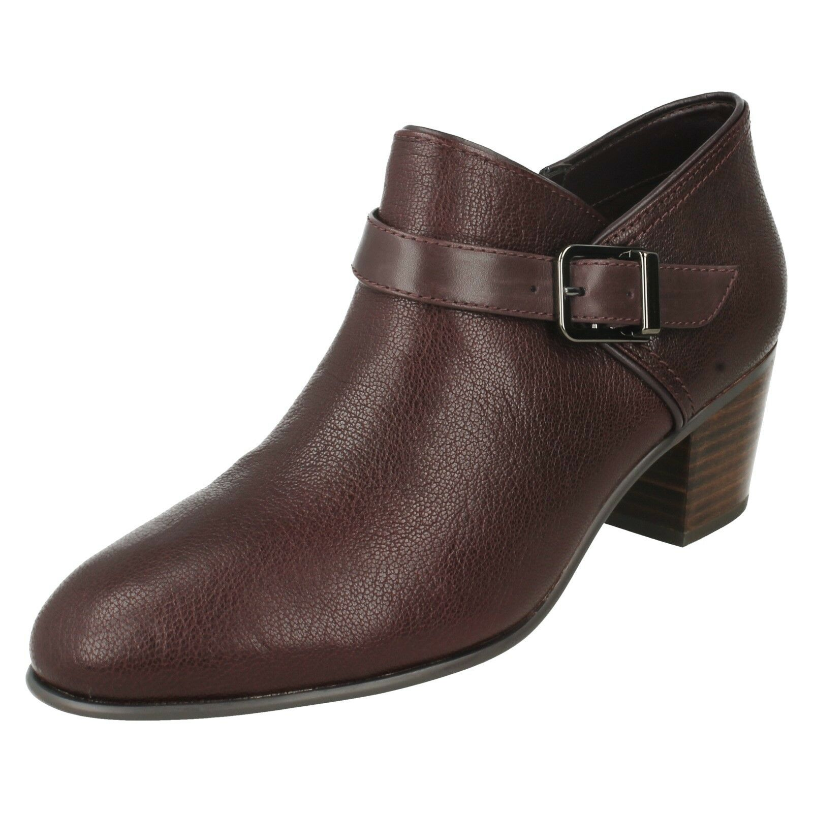 LADIES CLARKS LEATHER LEATHER LEATHER ZIP MID HEEL TROUSER ANKLE SHOE BOOTS SIZE MAYPEARL MILLA e57e0d