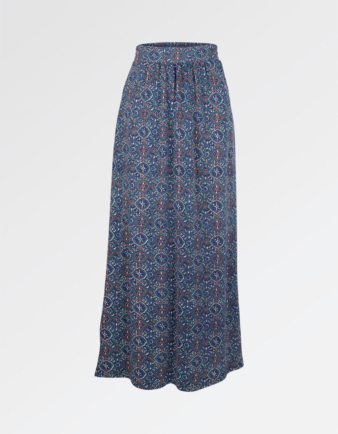 Fat Face - Women's - Amber Jewel Geo Maxi Skirt - bluee - 51% Cotton - BNWT