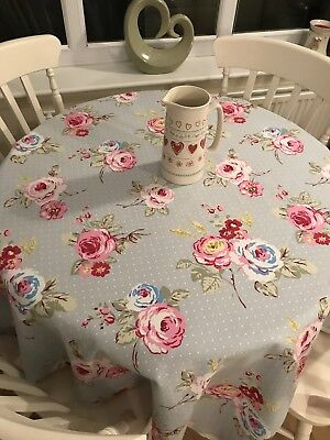 Cushion cover made from Clarke and Clarke Lace Pink fabric