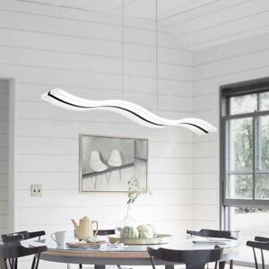 Détails sur 36W Moderne Minimaliste Acrylique Blanc Froid Lustre Plafonnier  Salon Restaurant