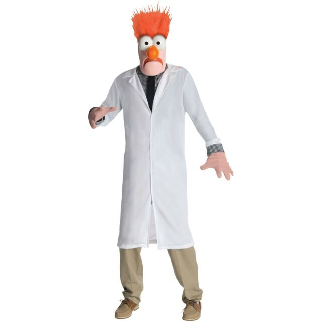 Beaker Costume Adult The Muppets Mad Scientist Assistant Halloween Fancy Dress