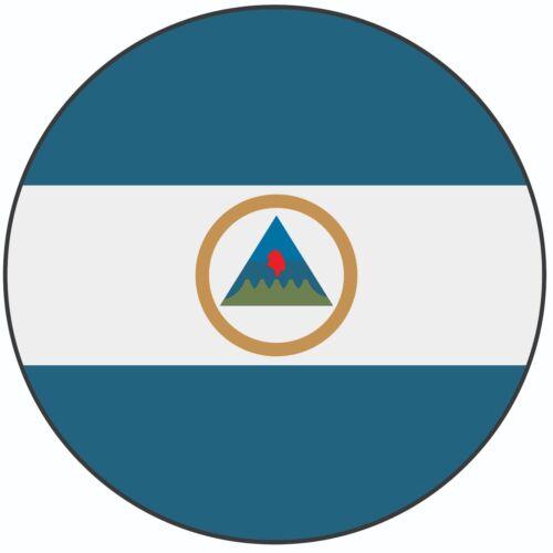 "Nicaragua Flag Cake Topper 8/"" 20cm Circle Icing Decoration Party Celebration"