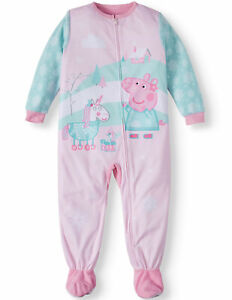 Peppa-Pig-Toddler-Girls-039-Blanket-Sleeper-Pajama