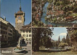 Schweiz Ansichtskarten Logisch Alte Postkarte Baden SchöN Und Charmant