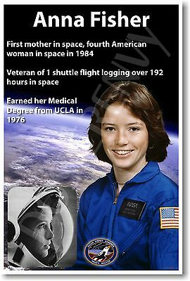 Anna Fisher NEW NASA American Woman Astronaut Space Exploration POSTER