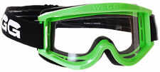 NEW 2014 WSGG CHEAP STANDARD MX MOTOCROSS GOGGLE GREEN ATV QUAD GOGGLES