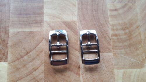 6 x Hebilla De Metal Una sola Punta Zapato Bkl guarnicionero Leather Craft Cinturón Correa 10MM =