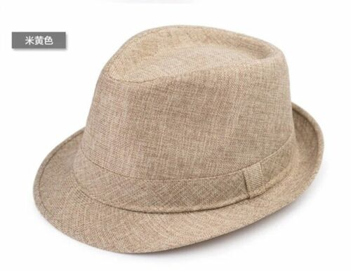 Men/'s Casual Fedora Trilby Gangster Cap Women Summer Beach Sun Straw Panama Hat