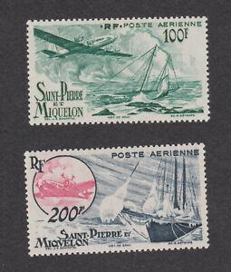 St-Pierre-et-Miquelon-Sc-C16-C17-MLH-OG-short-set-Stamps-French-Colony