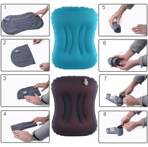 NatureHike Mini Inflatable Air Pillow Bed Cushion Travel Hiking Camping Rest GS