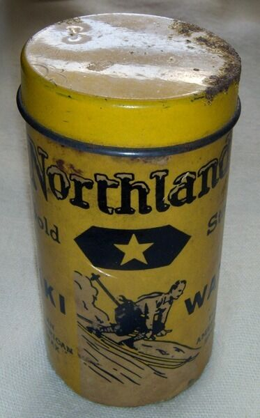 Vintage 1920s Northland Ski Mfg. Co. gold Star Ski Wax Tube with Original Wax