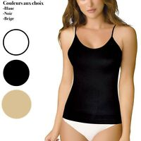 Caraco Top Microfibre Sous Vêtement Femme Bretelles Fine S/ M/ L/ Xl