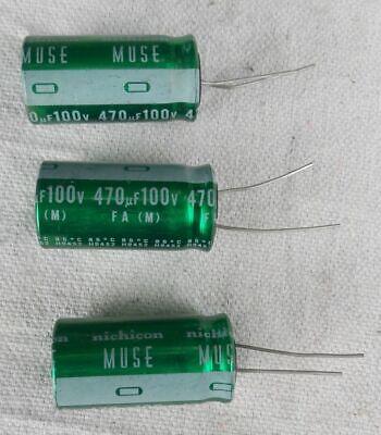6 pcs Nichicon MUSE FG 100v 470uf Audio Grade