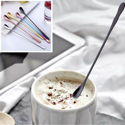 Stainless Steel Long Handle Spoon Stirring Mixing Spoon Coffee Scoop ~ IcMgV