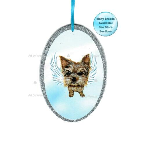Yorkshire Terrier Angel Ornament Yorkie Dog With Wings Christmas Ornament