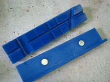 "Blue Radial Pocket, Urethane, Bench Vise Soft Jaws w/ Magnetic Retention 5-1/2"""