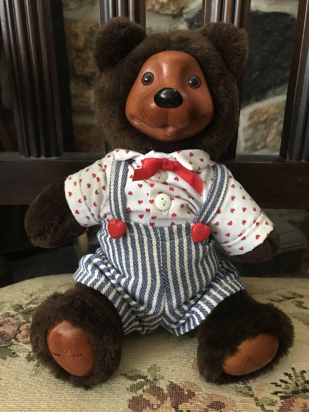 """Robert Raikes Jointed Teddy Teddy Teddy orso Wood Face 9"""" c8fcf5"""