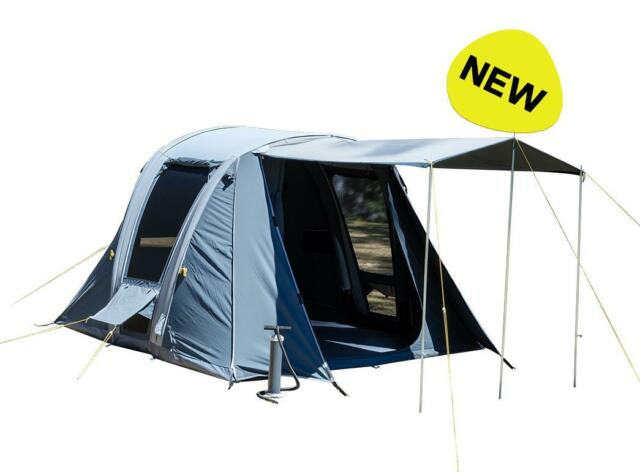 big sale 2367c 89680 Outdoor Connection Tanbar Air Pole Inflatable Instant Up 4 Person Canvas  Tent
