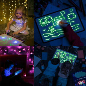 Magic-Draw-With-Light-Fun-Developing-Toy-Writing-Board-Kid-Educational-Best-D9E3