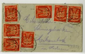 Germany-1923-Flown-Cover-to-Germany-with-7-Stamps-C15-Scott-Value-315-00