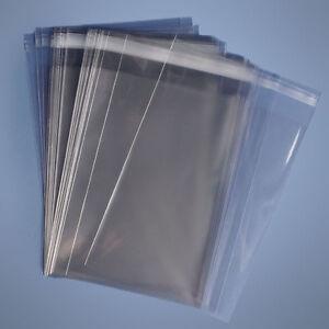 100 5 1/4 x 7 1/4 Clear (A7) Resealable Cellophane Card Sleeves Cello Bag 1.6mil