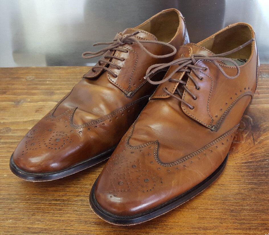 Cole Haan Wingtip schuhe-9 M-braun Leather-Nice-Nik Air Heel-Leather Sole