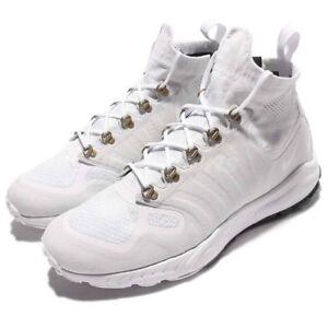 55127735705f Nike Zoom Talaria Mid FK Flyknit Triple White Platinum Boots 856957 ...