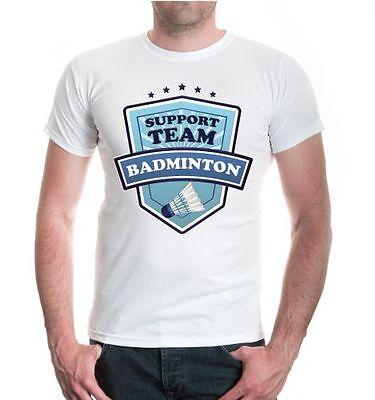 T-shirts Herren Unisex Kurzarm Shirt Badminton-support Team Federball Fanshirt Ballsport Durable Service