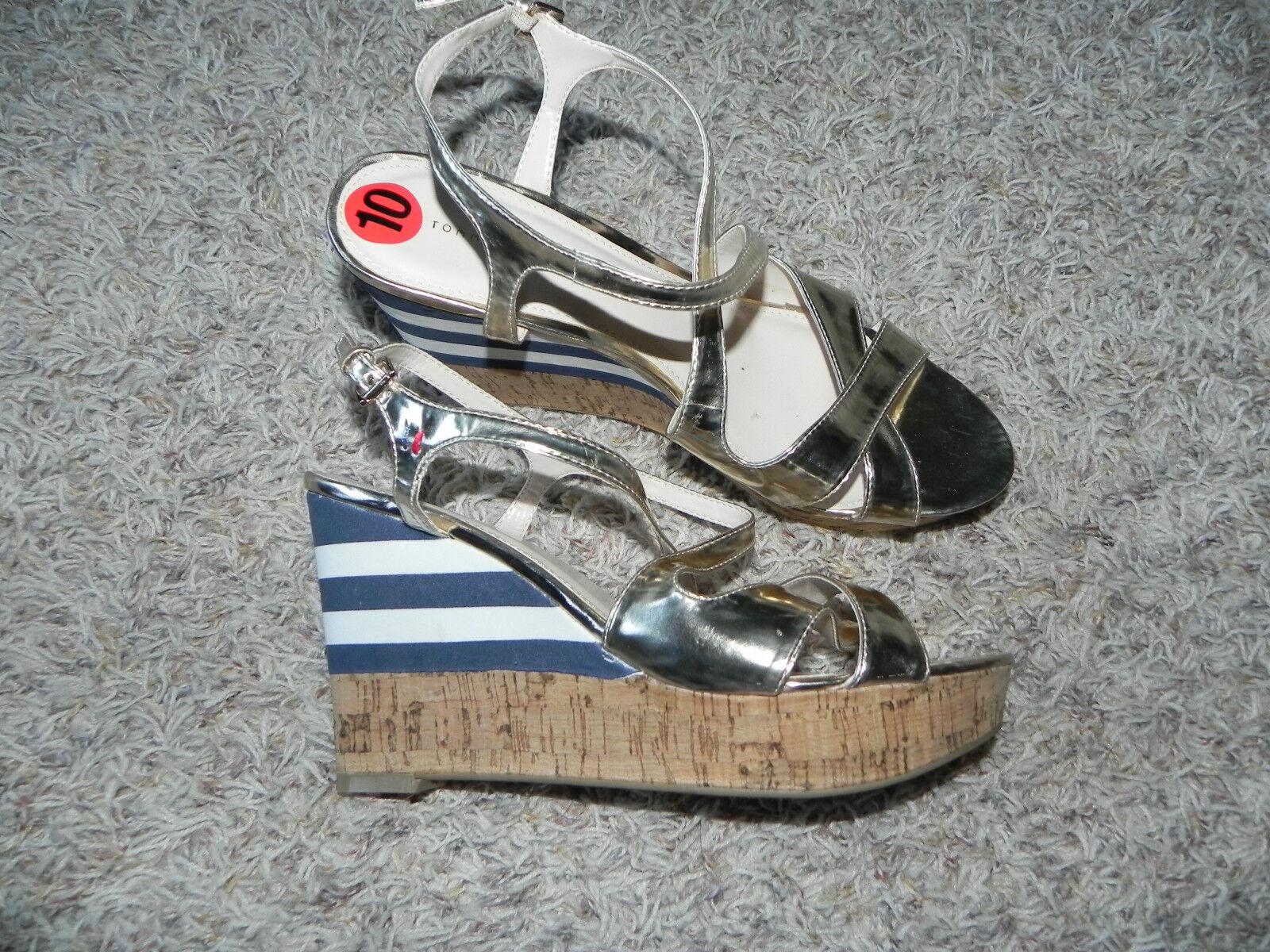 EARTHIES Laguna Red Peep Toe Mule Sandals Women's US Shoe Size 7M