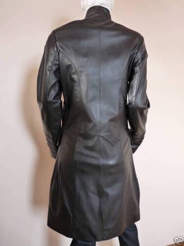 Black Italian By Long £479 Eatilio Leather Uk Bnwt 12 Coat OrqASxqd