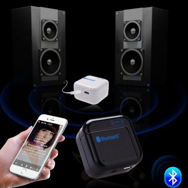 Portable 3.5MM NFC Wireless Bluetooth  Audio Receiver Adapter USB For Speaker
