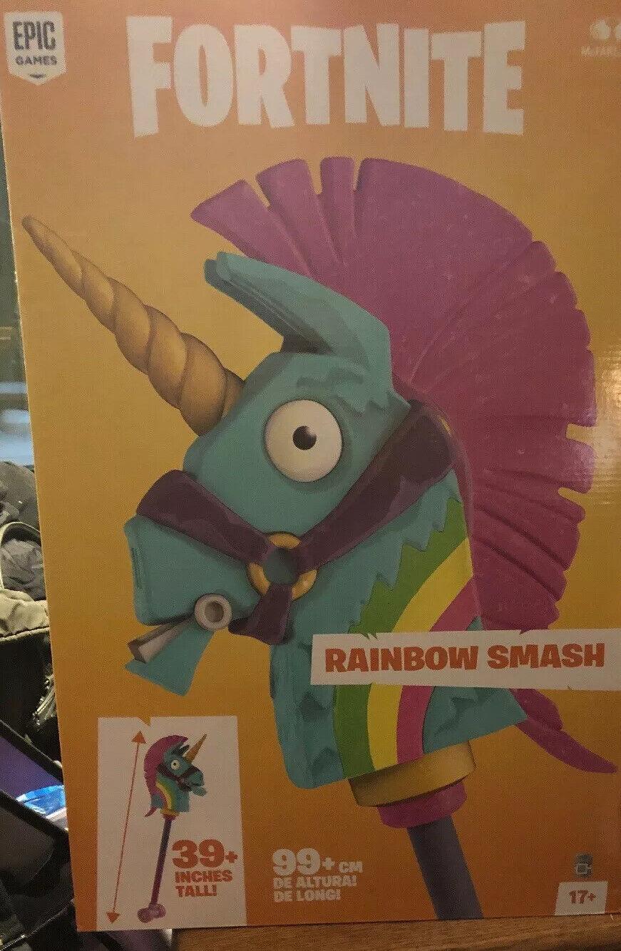 Fortnite Unicorn Rainbow Smash Pickaxe Replica McFarlane 39 life Diessisione cosplay