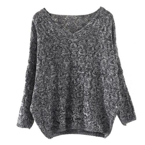 Women Hollow Out LongSleeve Knitted Sweater Tops Loose Cardigan Outwear Coat