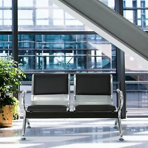 Outstanding Details About 2 Seat Waiting Room Chair Leather Business Reception Bench Room Barber Bench Pdpeps Interior Chair Design Pdpepsorg