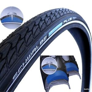 Schwalbe-Marathon-Plus-Tyre-Bike-Cycle-Bicycle-Black-Smartguard-Tire-Reflective
