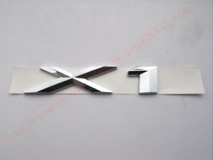 ABS Chrome X 1 Letters Number Trunk Rear Emblem Badge Sticker for BMW F48 E84 X1