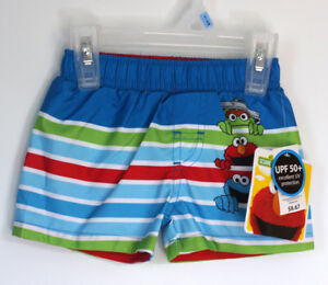 ea85e20d71 Sesame Street Newborn Infant Baby Boy Swim Trunks 3-6 Months Elmo ...
