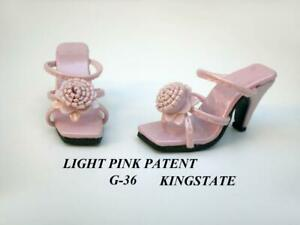 Flower-Sandals-for-TYLER-Gene-Doll-Pink-Patent-Kingstate-Shoes-Hard-to-Find-NIB