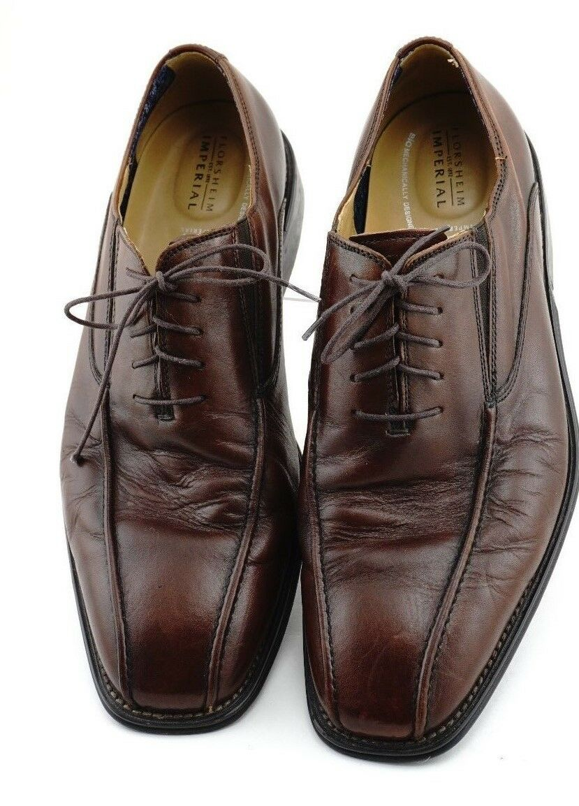 FLORSHEIM IMPERIAL Mens Leather Brown Oxford Size 13D
