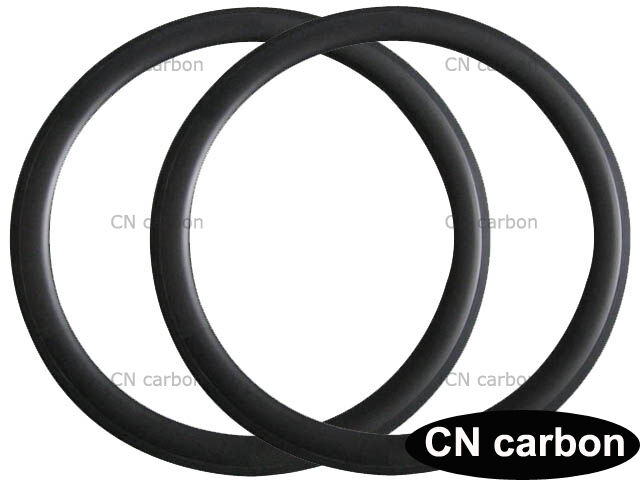 U Shape 50mm Depth Clincher carbon fiber road bike rim  23,25,27.5mm width