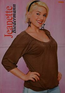 JEANETTE-BIEDERMANN-A3-Poster-ca-42-x-28-cm-Clippings-Fan-Sammlung-NEU