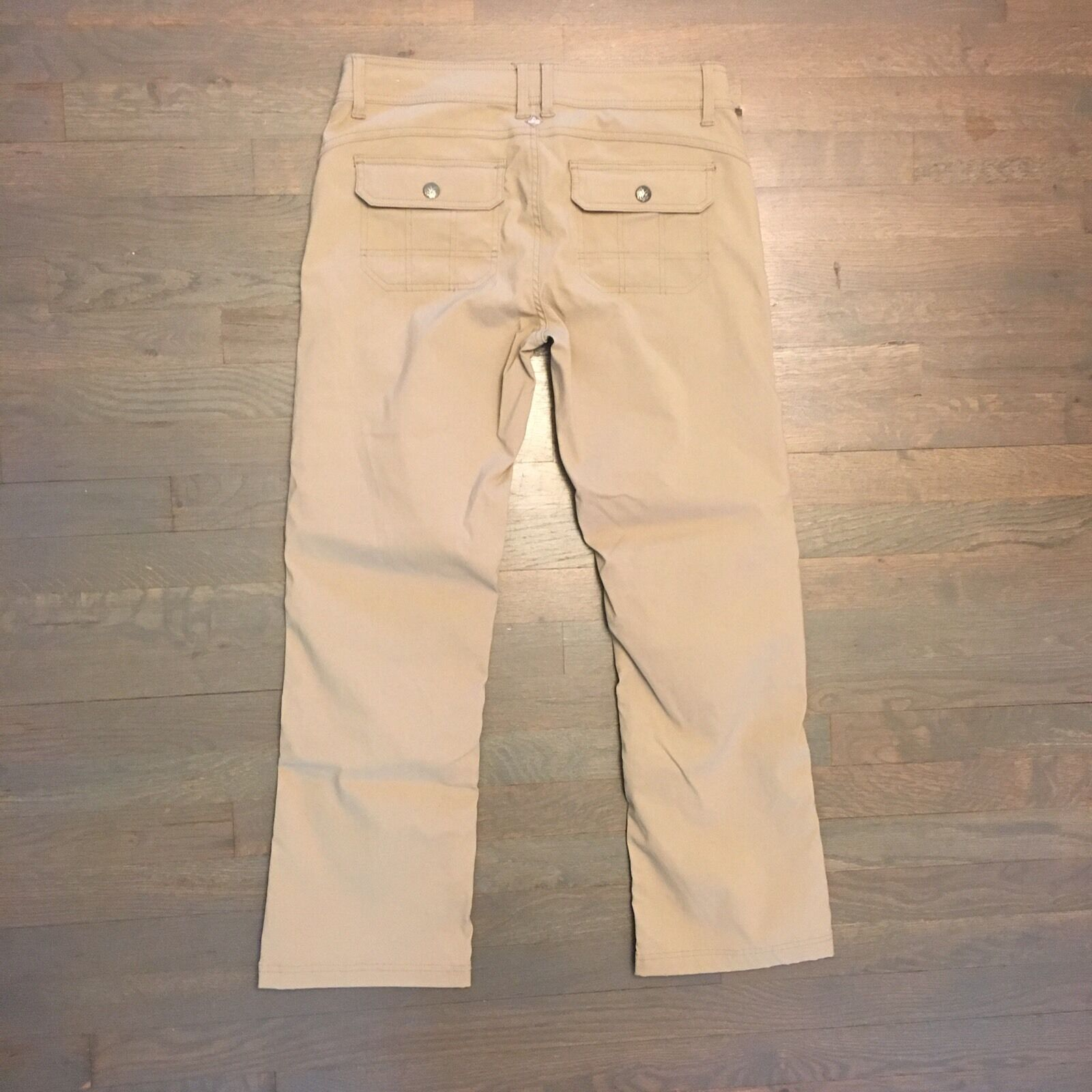 Prana Hiking Casual Congreenible Pants Woman's Size 10 Beige