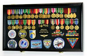 Image Is Loading Large Military Medals Flag Pins Ribbons Patches Display