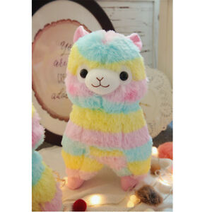 New 14 Big Kawaii Rainbow Alpacasso Cute Alpaca Llama Soft Plush