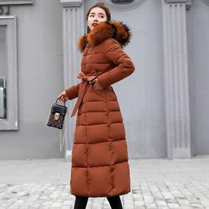 Parka med Damejakke dunjakke Toppe lang Outwear kravecoat pels Vinter Warm YgpS4q